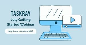 Image promoting Getting Started webinar July 8 at 10am