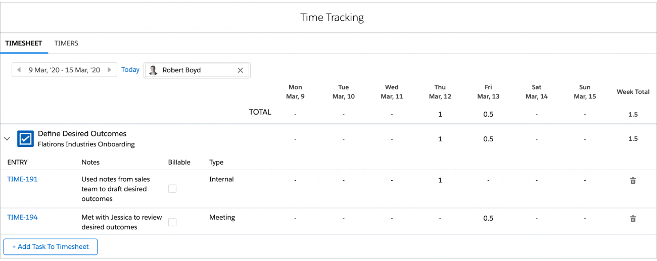 TaskRay Timesheet