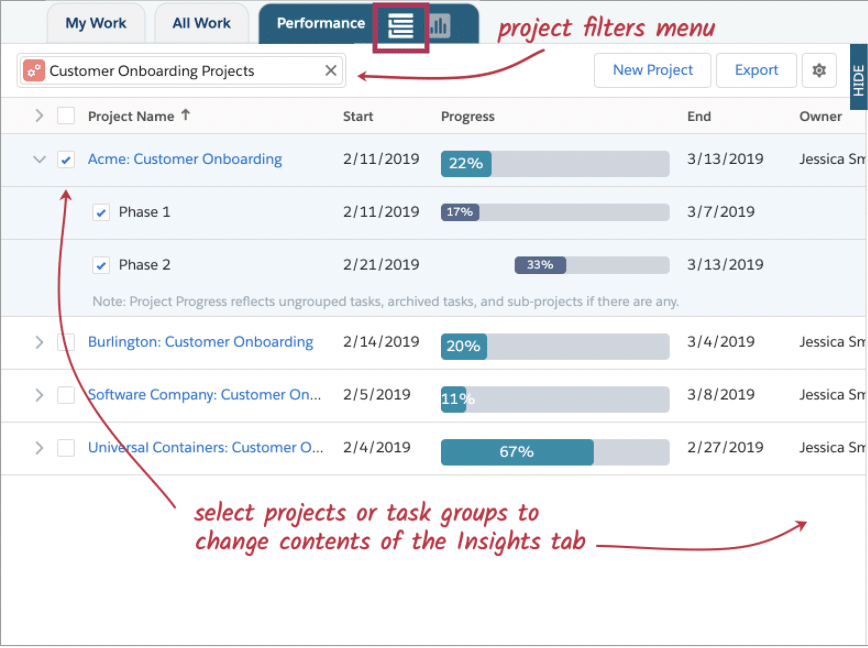 TaskRay Portfolio View (screen shot)